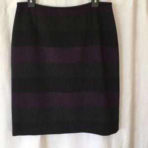 NWT Tahari ASL Color Block Pencil Skirt